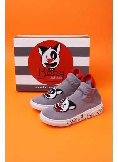 Katia & Bony Super Dog Kıds Shoes -Gri Antrasit